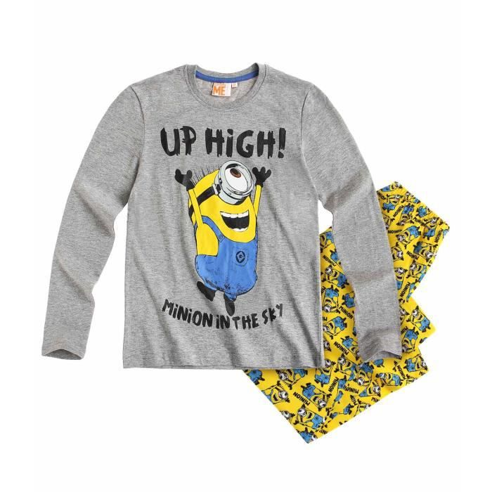 pyjama les minions 12 ans gris achat vente chemise de. Black Bedroom Furniture Sets. Home Design Ideas