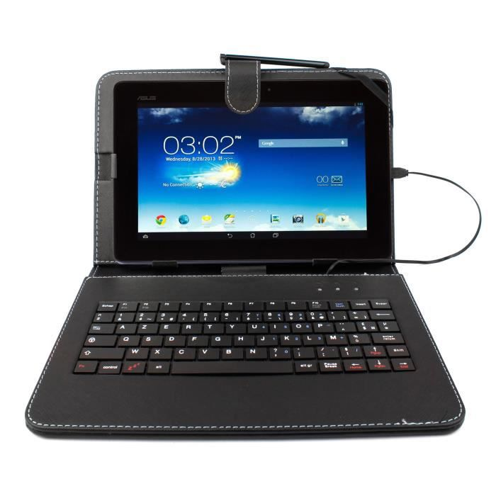 etui noir clavier pour tablette asus memo pad 10 1 prix. Black Bedroom Furniture Sets. Home Design Ideas
