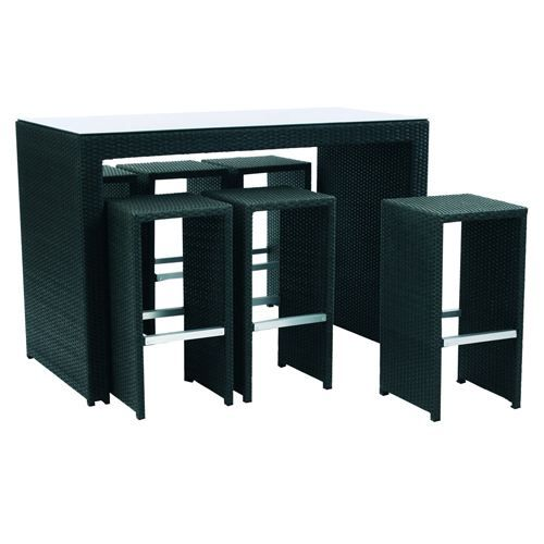 salon de jardin toscane table haute 6tabourets achat vente table de jardin table de. Black Bedroom Furniture Sets. Home Design Ideas