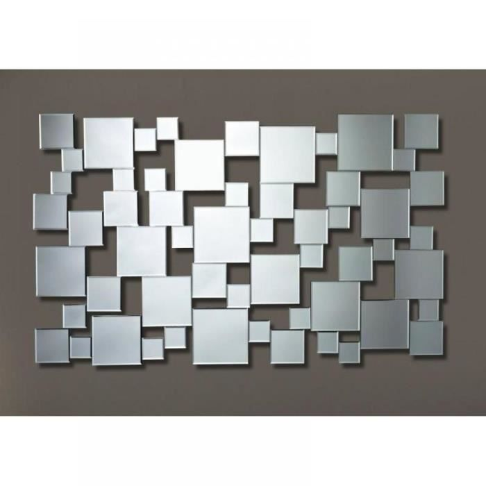 Gizeh miroir mural design multi carreaux achat vente for Grand miroir mural