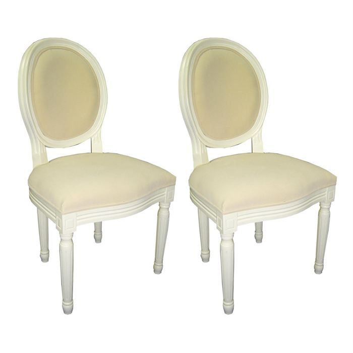 chaises baroque salle manger blanc medaillon x 2 achat vente chaise tissu velours cdiscount. Black Bedroom Furniture Sets. Home Design Ideas