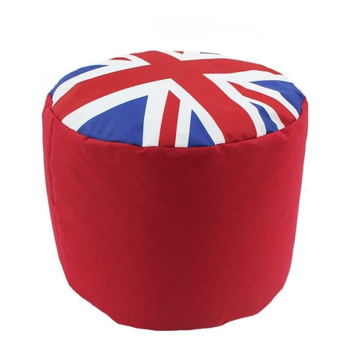 uk pouf royaume uni drapeau 40x30 cm rouge achat vente pouf poire soldes d t. Black Bedroom Furniture Sets. Home Design Ideas