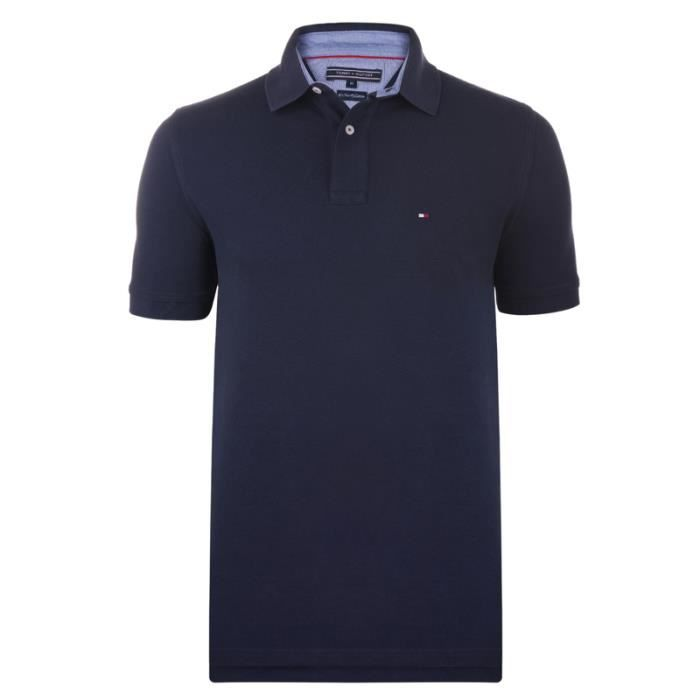 tommy hilfiger polo homme to1179177 manches courte bleu marine achat vente polo cdiscount. Black Bedroom Furniture Sets. Home Design Ideas