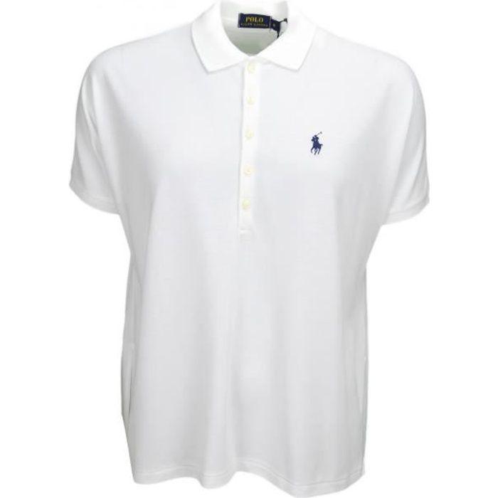Polo Ralph Lauren ample blanc pour femme - Taille: S - Couleur: Blanc Blanc  - Achat / Vente polo - Cdiscount