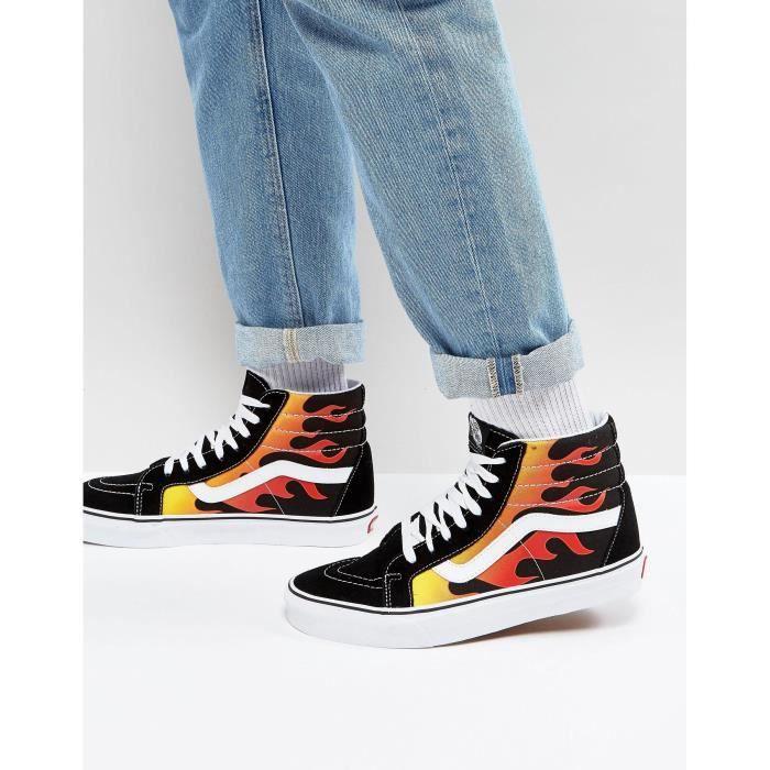 vans chaussure flamme
