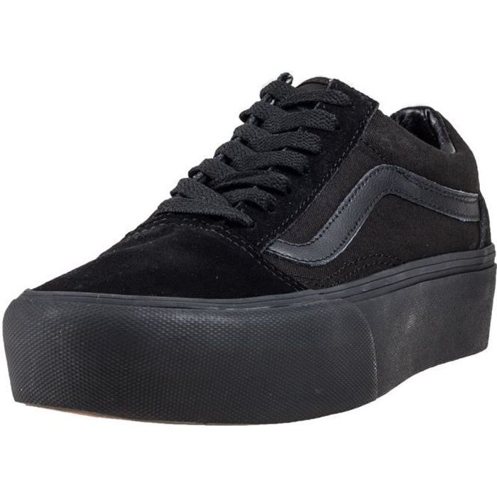 Vans Old Skool Platform Femmes Baskets Noir - 9 UK