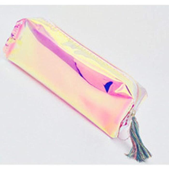 Toile Sac a Crayons Trousse,rose pochette /à crayons de grande capacit/é mignonne bag Sac de rangement pour papeterie Trousse trousse scolaire fille rose