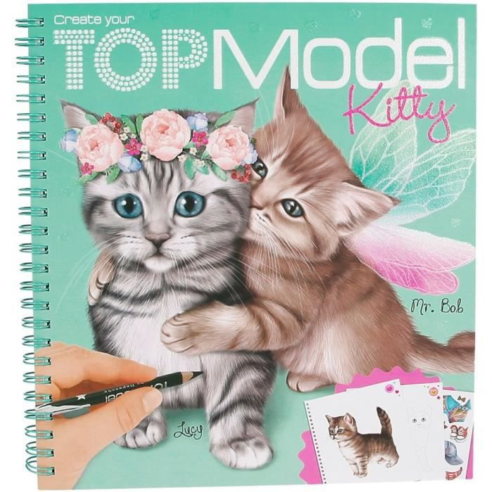 Album coloriage chat kitty top model 45361 achat vente livre de coloriage album coloriage - Coloriage top model visage ...