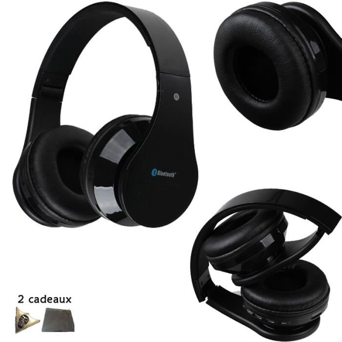 usiful noir casque gamer sans fil bluetooth pliable. Black Bedroom Furniture Sets. Home Design Ideas