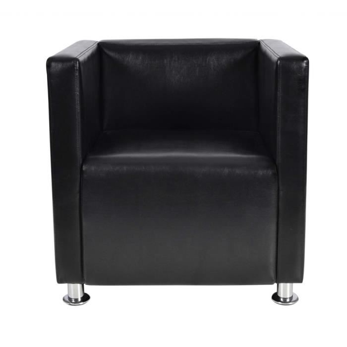 fauteuille design club noir achat vente fauteuil cdiscount. Black Bedroom Furniture Sets. Home Design Ideas