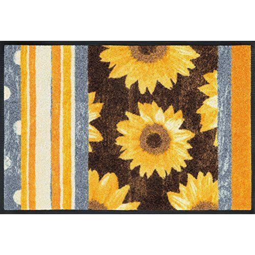 Wash dry paillasson 069782 sunny stripes r sine acrylique for Tapis cuisine wash and dry