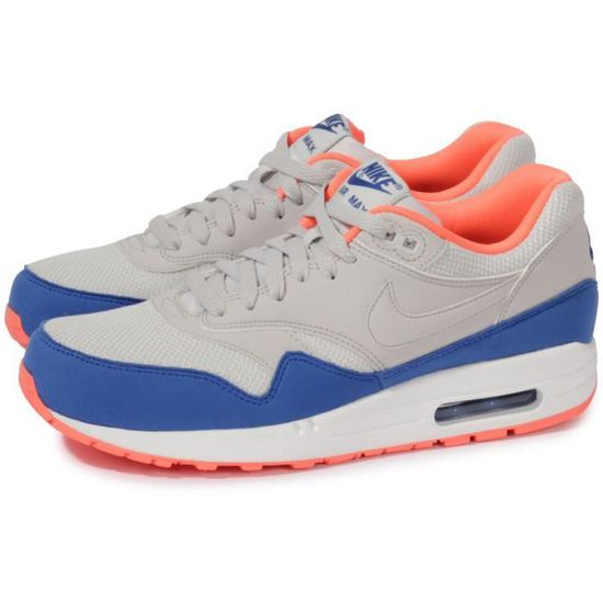 Air Max 1 Essential Bleu/orange/gris - Cdiscount Chaussures