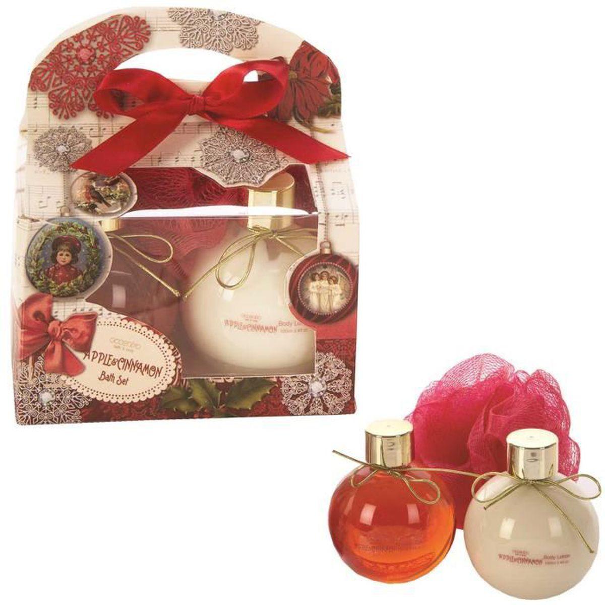 Coffret Cadeau Tentation BOULE DE NOËL Parfum POMME & CANNELLE