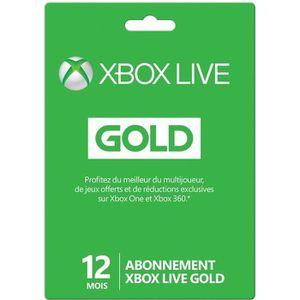 CARTE PRÉPAYÉE Abonnement XBOX Live Gold 12 mois