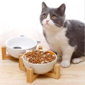 GAMELLE - ÉCUELLE 2PCS Gamelles en céramique surélevées pour chat av