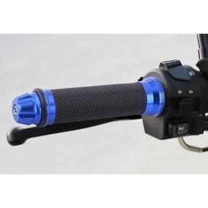 Bleu Poign/ées de guidon 1 paire 7//8Poign/ées de guidon de v/élo de moto en caoutchouc aluminium CNC