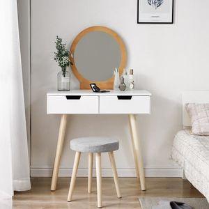 COIFFEUSE Coiffeuse Table de maquillage scandinave miroir ov