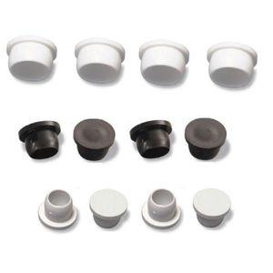10x BOUCHONS EN PLASTIQUE NOIR ROND DIAMETRE 20MM x 23MM CACHE TROU OBTURATEUR