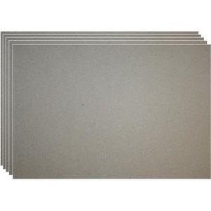 CARTON À DESSIN 20 feuilles de carton gris 0,5 mm en papier kraft
