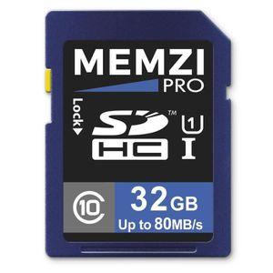 CARTE MÉMOIRE Memzi Pro - Carte mémoire SDHC 32Go, Classe 10, 8