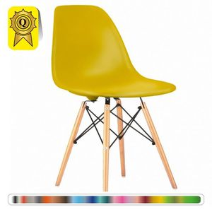 CHAISE 1 X Chaise Design Scandinave Jaune Flash Pieds