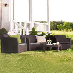 salon de jardin gris anthracite achat vente salon de. Black Bedroom Furniture Sets. Home Design Ideas