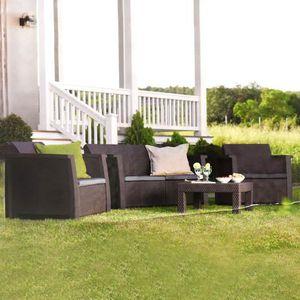 Salon de jardin Keter Vegas Anthracite - 4 places - Achat ...