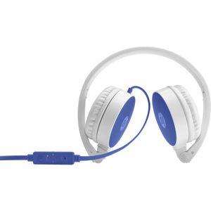 CASQUE AVEC MICROPHONE HP Casque stéréo bleu DF 2800, Avec fil, Bandeau,
