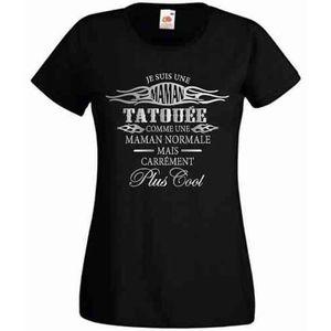 T-SHIRT Tee-shirt femme MAMAN TATOUÉE - Idée cadeau ann...