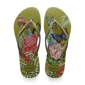 TONG Havaianas Slim Tropical Tongs Vert Taille 3-4