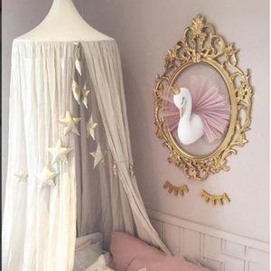 MÉMO - ARDOISE MURALE Golden Crown Swan Art mural Hanging Girl Cygne Pou