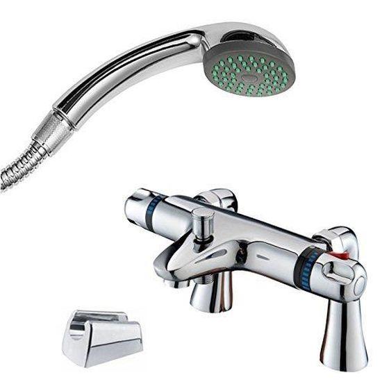 ENKI Mitigeur de baignoire sur pied pour baignoire et douche