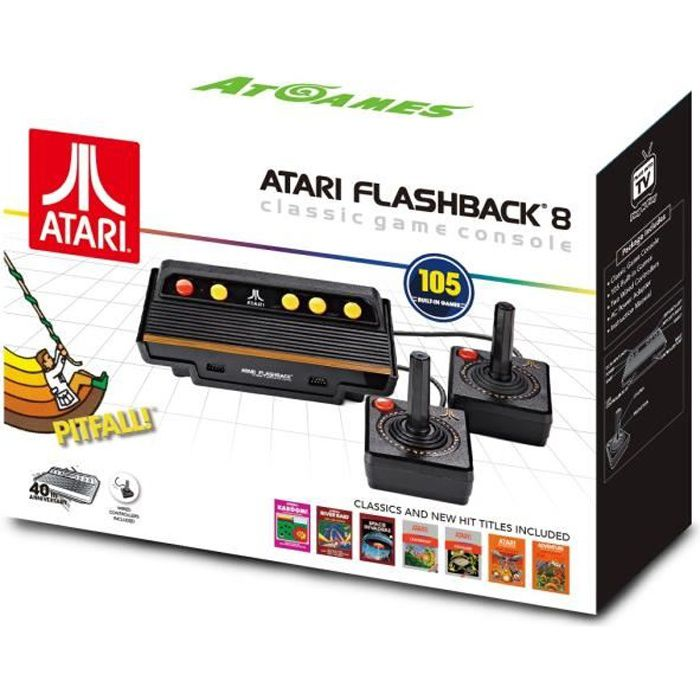 Console ATARI Flashback 8 Classic Game HD avec Manettes Filaires