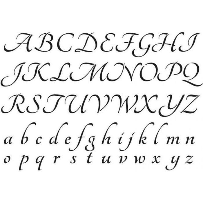 Pochoir A4 'Artemio' Alphabet