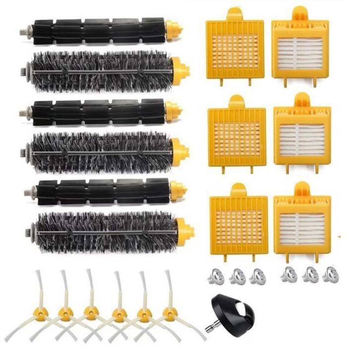 Batteur de brosse de poils de haute qualité flexible pour oeuf brosse latérale Hepa Kit de filtre pour iRobot Roomba série 700 770