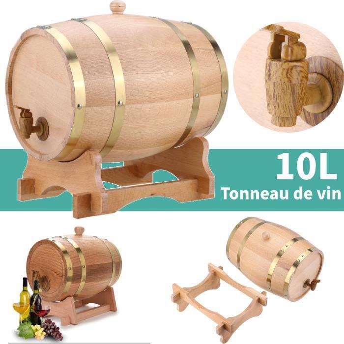 10L tonneau en bois de chêne avec support pour le stockage des vins Baril de chêne