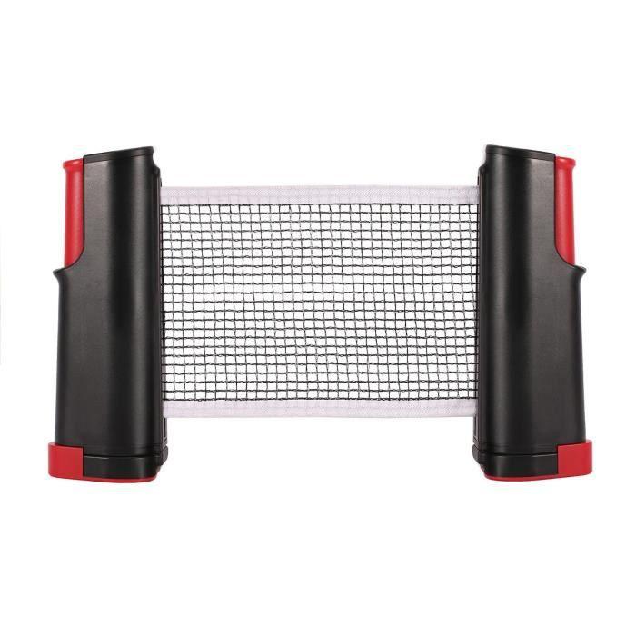 Outil de filet rétractable de soutien de ping-pong de ping-pong pour la formation (noir et rouge)