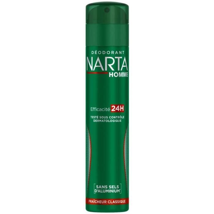 Déodorants et anti-transpirants NARTA Fraîcheur Classique Déodorant Spray Homme Fraicheur Classique efficacité 24h 200.0 73528