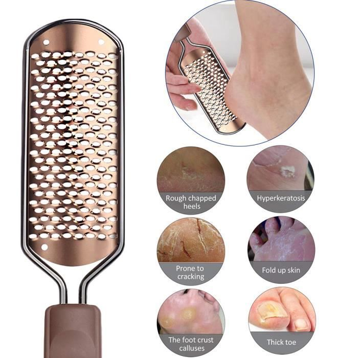 Pédicure Pied File Callus Remover Large Foot Rasp Colossal Foot Scrubber Featu Soin des pieds 142