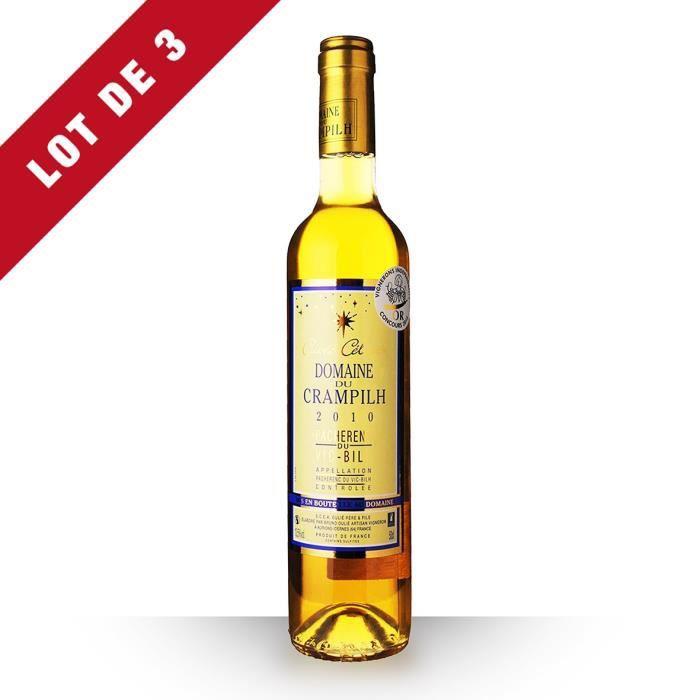 3X Domaine du Crampilh Céleste 2010 Blanc 50cl AOC Pacherenc du Vic-Bilh - Vin Blanc
