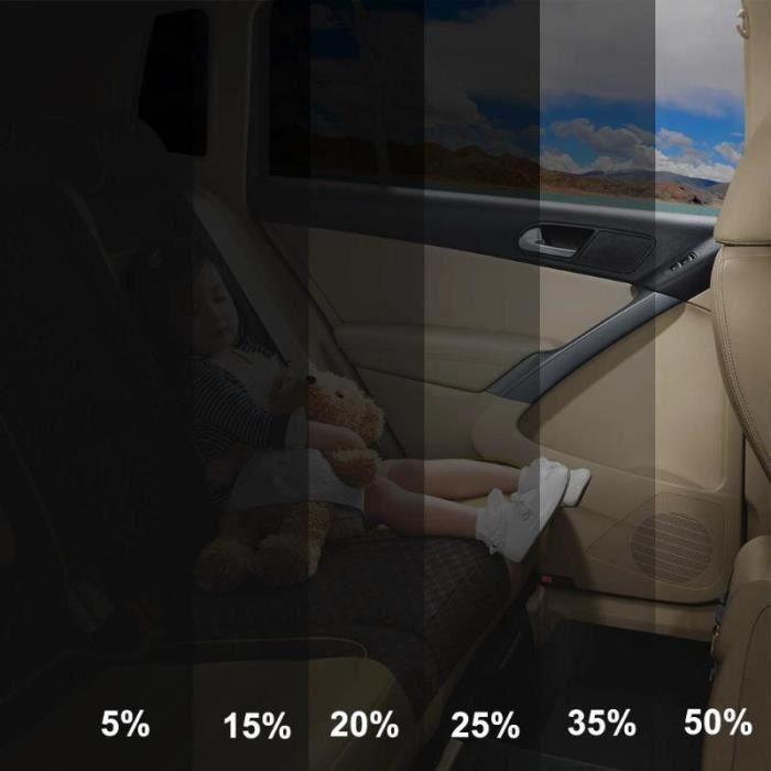 Verre de voiture en rouleau noir - Film à teinter pour vitres de voiture, grattoir de voiture, - Modèle: 15 percent - ANQCFSYA02242