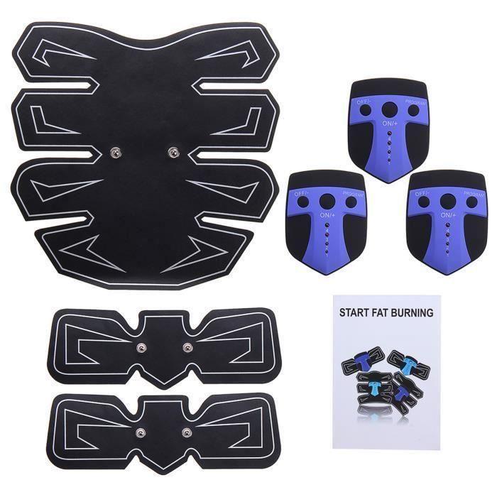 7Pcs Stimulation Electro ABS Stimulateur Abdomen Bras Musculation Kit Aa49696