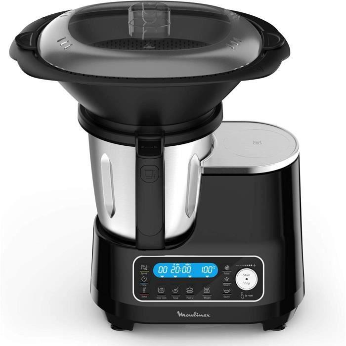 MOULINEX CLICKCHEF Robot Cuiseur multifonction 5 programmes automatiques Robot cuisine compact 25 fonctions Balance cuisine intégrée
