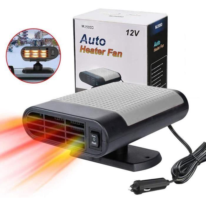 Chauffage de voiture portable 12 V - Dégivrage rapide - Dégivrage et désembuage automatique - Ventilateur électronique de voiture