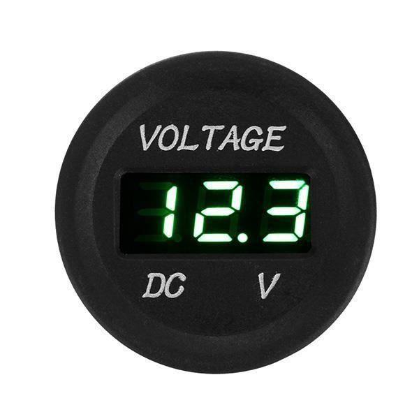 DC 6V-30V LED Voltmètre Voltage Digital Cable Pr Voiture Moto vert L10368