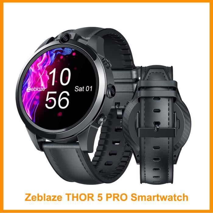 4G Zeblaze THOR 5 PRO montre intelligente GPS 1.6 pouces 5.0MP double carame fréquence cardiaque appels vidéo moniteur de vitesse TH