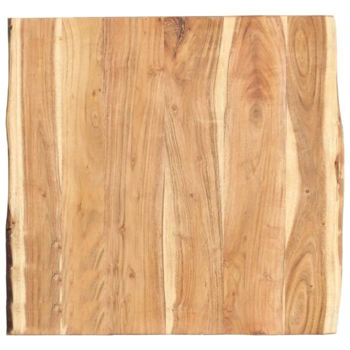 &Décor6285Luxueux Dessus de table Plateau de Table Meuble Contemporain Décor- Plateau Pour Table Bois d'acacia massif 60x60x3,8 cm