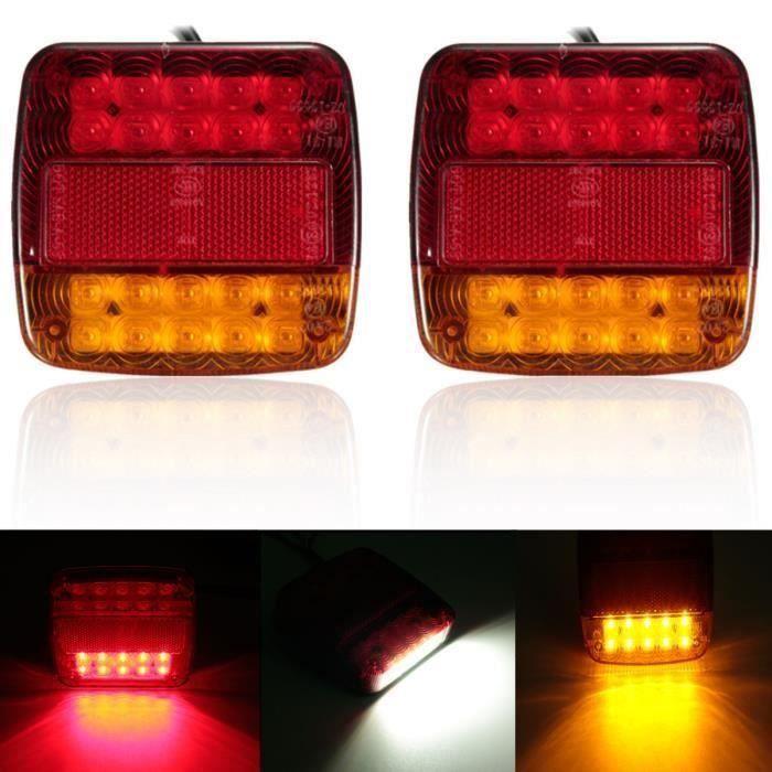 2 x 12v LED Feux Arrière Arrêt Indicateur Bateau Voiture Remorque Camion étancheSignal