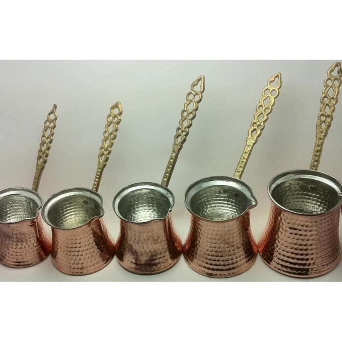 Cuillère,Cafetière turque, Cezve, Ibrik, fabricant de cuivre martelé à la main, rouge de suivi Jezve - Type XS