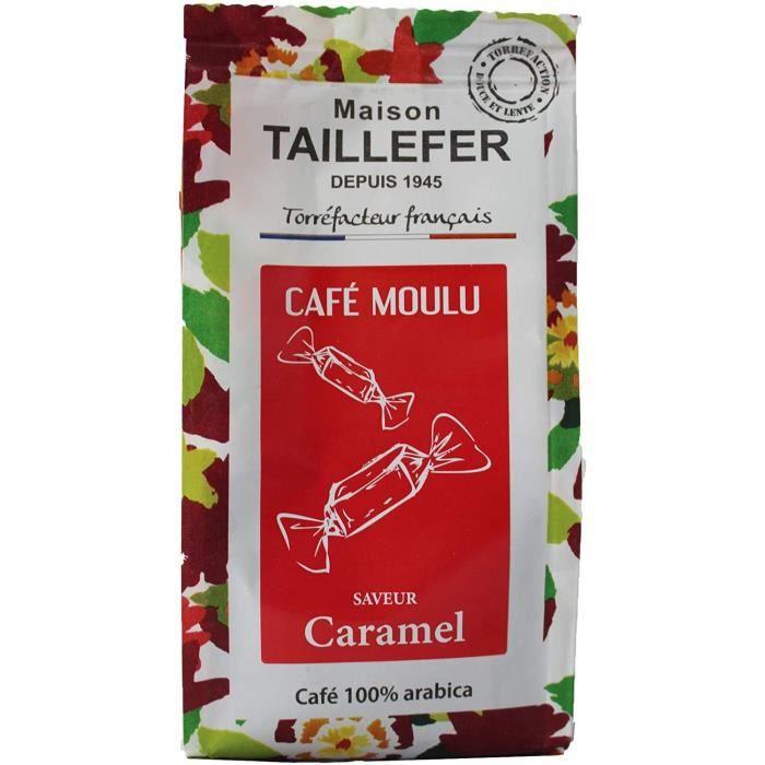 Maison Taillefer Café Saveur Caramel Moulu 125 g - Pack de 9